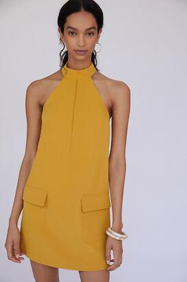 Halter Shift Mini Dress By Mare Mare in Gold Size L