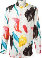 Paul Smith multicolour paint print shirt - men - Cotton/Modal/Cashmere - 41