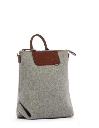 Graf Lantz Granite & Sienna Mini Felt Bedford Backpack