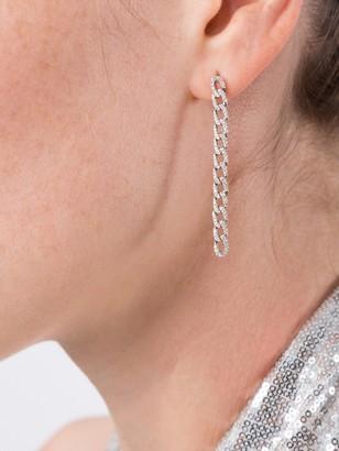Anita Ko Diamond Chain Link Earrings White Gold