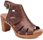 Dansko Demetra Vintage Leather Caged Slingback Buckle Sandals