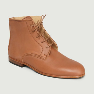 La Botte Gardiane - Natural Calfskin Leather Albert Ankle Boots - 37 | natural | calfskin leather - Natural/Natural