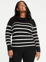 Old Navy Brushed Striped Plus-Size Turtleneck Sweater