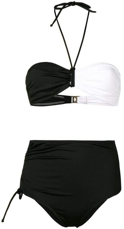 95a72d0fdfa Black And White Halter Neck Bikini - ShopStyle UK