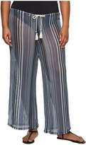 Becca by Rebecca Virtue Plus Size Pierside Pant Bottoms Women's Swimwear