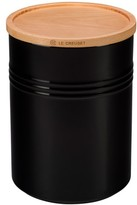 Le Creuset Glazed 22 Ounce Stoneware Storage Canister With Wooden Lid