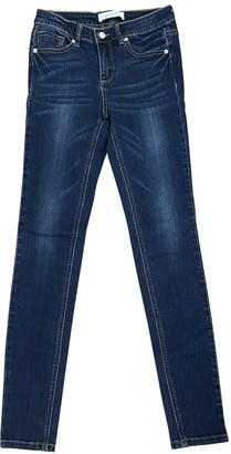 Ash Blue Cotton - elasthane Jeans for Women