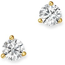 Bloomingdale's Certified Diamond Stud Earrings in 18K Yellow Gold Martini Setting, 0.33 ct. t.w. - 100% Exclusive