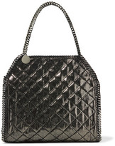 Stella McCartney Iridescent Quilted Faux Brushed-Leather Tote