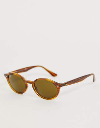 0RB4315 oval sunglasses in tort-Brown