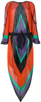 Balmain geometric shoulder slit dress - women - Polyamide/Viscose - 38