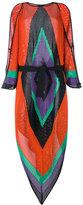 Balmain geometric shoulder slit dress