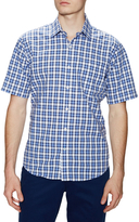 Exploded Plaid Print Sportshirt