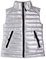 SAM. Girls' Lightweight Metallic Down Puffer Vest - Sizes 8-14