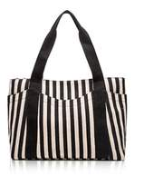Skyseen Classic stripes Women's Canvas Shoulder Hand Bag Tote Bags,Black and White