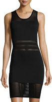 Alberto Makali Sleeveless Mesh-Knit Dress, Black