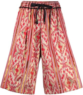 Forte Forte Abstract Print Knee-Length Shorts