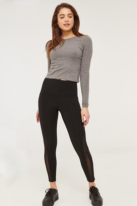 Ardene High Waist Leggings with Mesh Detail