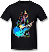 Fire-Dog-Custom Tees Men's Foo Fighters Dave Grohl Screw Neck Tshirts Size XL