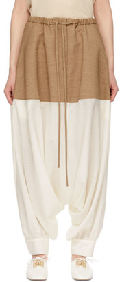 Loewe Beige and Off-White Balloon Trousers