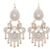 Charlotte Russe Embellished Enamel Chandelier Earrings