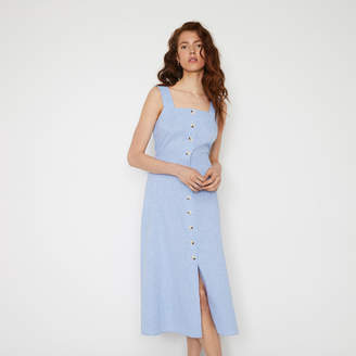 Warehouse CHAMBRAY MIDI DRESS