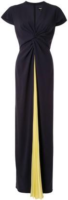 Paule Ka Pleated Crepe Soleil Gown
