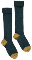 Caramel Ribbed Knee Socks
