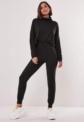 Missguided Dark Gray Co Ord Knit Leggings