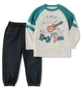 Kids Headquarters Little Boys Two-Piece Wish List Top and Jogger Pants Set