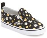 Vans Toddler Girl's 'V' Slip-On Sneaker