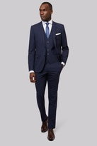 DKNY Slim Fit Navy Semi Plain Suit