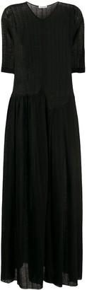 Jil Sander Sheer Knit Maxi Dress