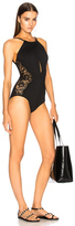 I.D. Sarrieri Cutout Swimsuit in Black.