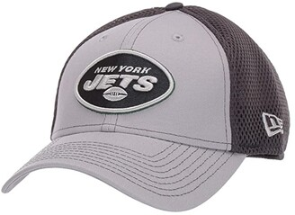 New Era NFL Grayed Out NEO 39THIRTY Flex Fit Cap - New York Jets (Gray/Black) Baseball Caps