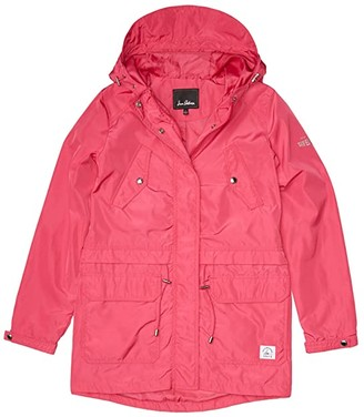 Sam Edelman Anorak w/ Waist Flange Detail (Pink) Women's Coat