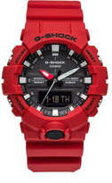 G-Shock G SHOCK DUO MID SIZE, BLK FACE, RED RESIN BAND