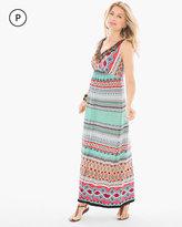 Chico's Multi-Print Embellished Maxi Dress