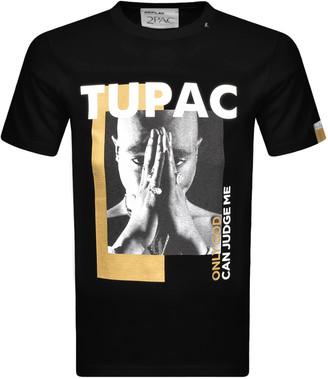 Replay Tupac Tribute Logo T Shirt Black