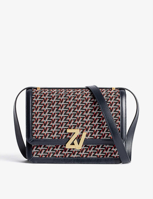 Zadig & Voltaire ZV leather and canvas cross-body bag