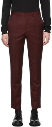 HUGO Burgundy Wool German 194 Trousers