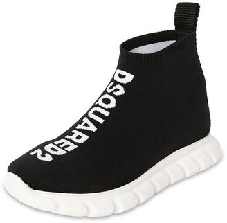 DSQUARED2 Slip-on Knit Sock Sneakers