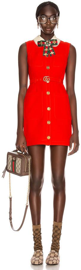 Gucci Sleeveless Mini Dress in Pomegranate Flower | FWRD