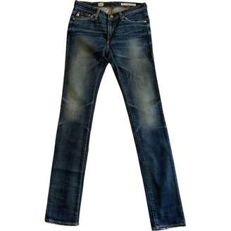 AG Adriano Goldschmied Blue Cotton Jeans for Women