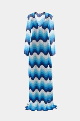 Mary Katrantzou Rolling In The Deep Dress Blue Ombre Lace