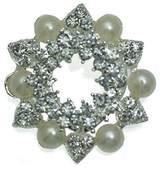 AJ Fashion Jewellery Passiflora tone Crystal faux Pearl Scarf Clip
