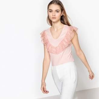La Redoute Collections Lace Panel Vest Top