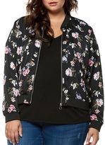 Dex Plus Floral Print Bomber Jacket