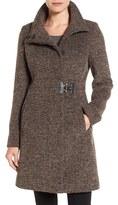 Via Spiga Women's Tweed Funnel Neck Coat