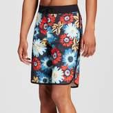 Mossimo Men's Board Shorts Floral Scallop Black